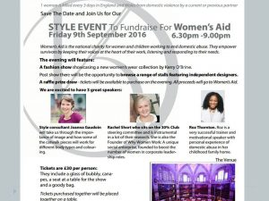flyer womens aid event